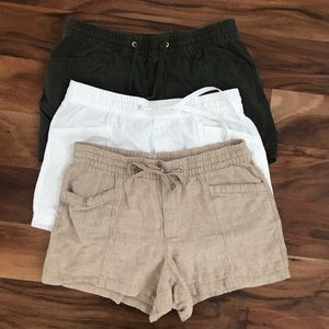 Lot of 3 Gap Linen Blend Shorts Drawstring